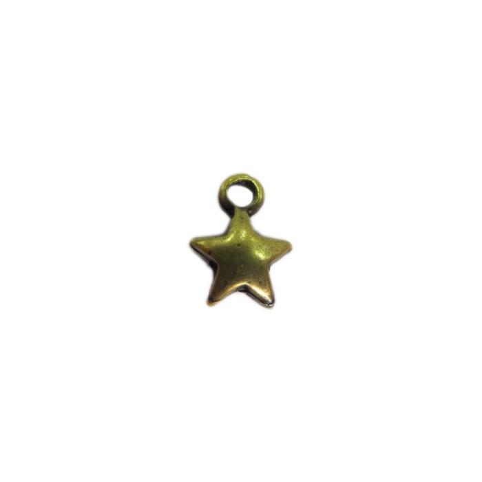 Pingente Estrela ouro velho (10 unidades)- PTO059