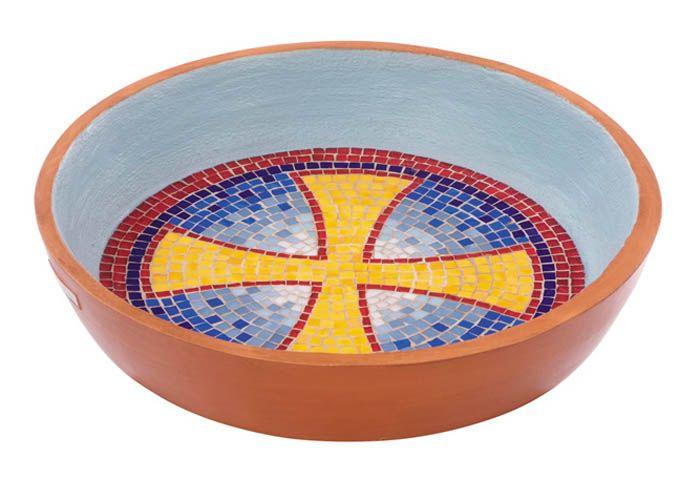 Pia Batismal Mosaico Cruz 4182