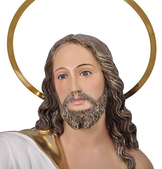 Imagem Cristo Ressuscitado com Base Durata 60cm