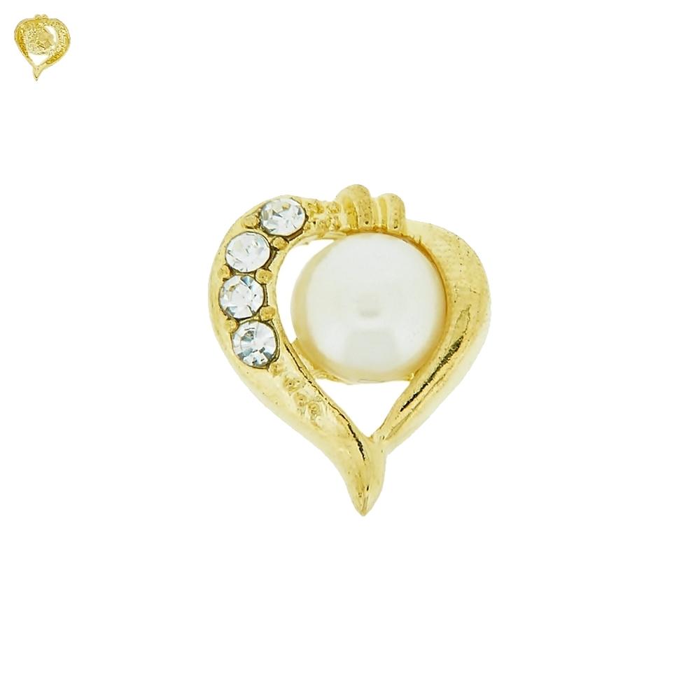 Piercing Coração para Chinelo com Strass - 17mm  - Nathalia Bijoux®