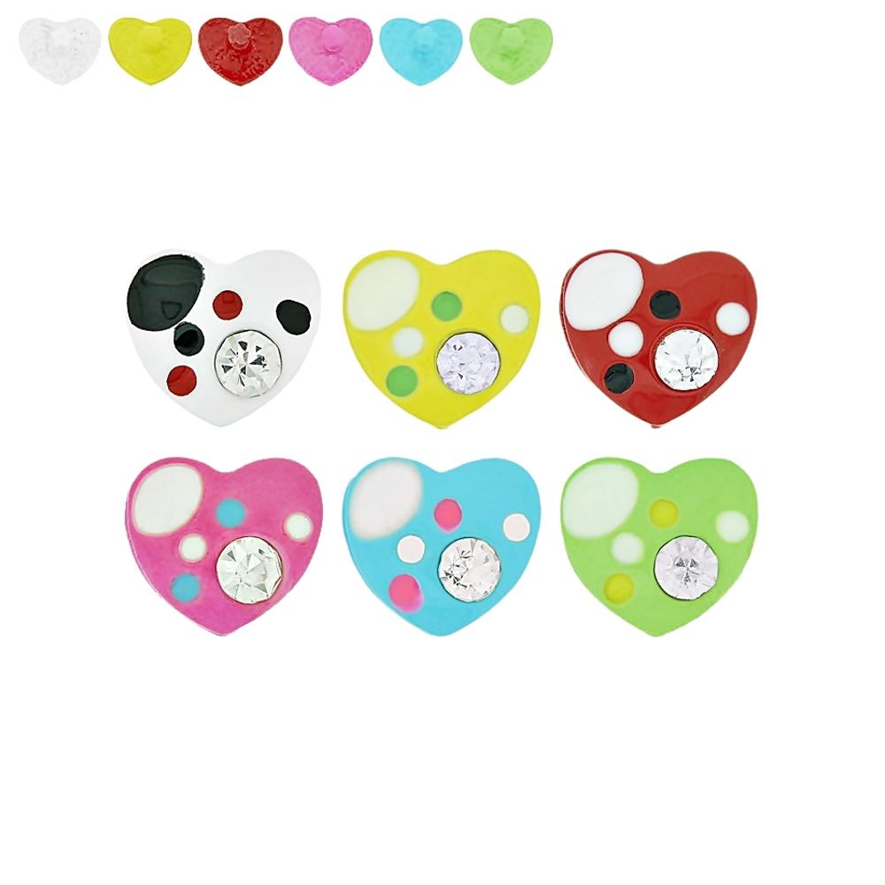Piercing Coração para Chinelo com Strass - 13mm  - Nathalia Bijoux®