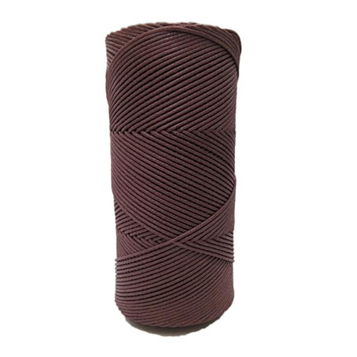 Cordão encerado fino chocolate (2080)10mts- CDF013