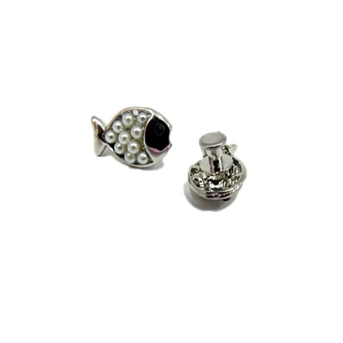 Piercing Peixinho níquel (Par)- PIN030