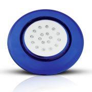 Luminária LED de Piscina Borda Azul 18W