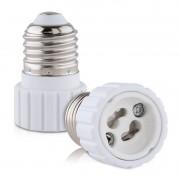 Soquete Adaptador Branco E27 para Lâmpada GU10